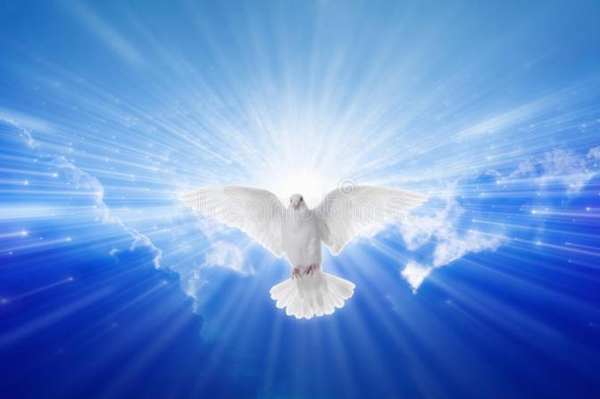 holy-spirit-came-down-like-dove-flies-blue-sky-bright-light-shines-heaven-christian-symbol-gospel-story-52058304